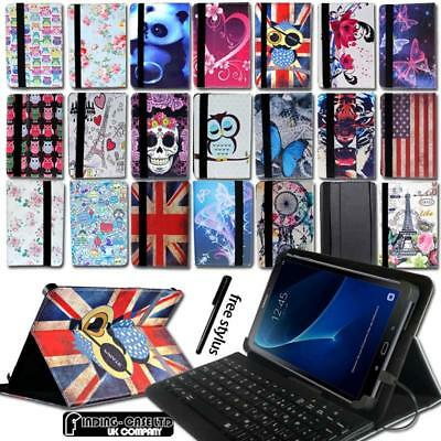 Leather Stand Cover Case + Micro USB Keyboard For Samsung Galaxy Note /Tab S S2 • 8.99£