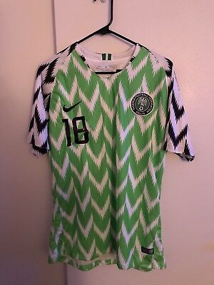 839e5eee538 NWT Nike Nigeria 2018 World Cup Soccer Home Jersey Men s Size XL • 75.00