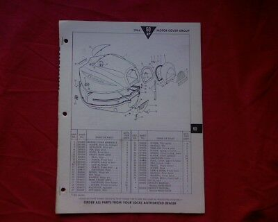 AU19.95 • Buy 1964 Evinrude 60 Hp Outboard Motor SPARE PARTS MANUAL Book Catalogue List