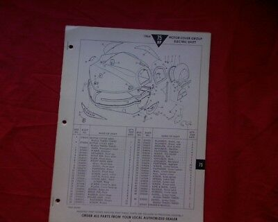 AU19.95 • Buy 1964 Evinrude 75 Hp Outboard Motor SPARE PARTS MANUAL Book Catalogue List