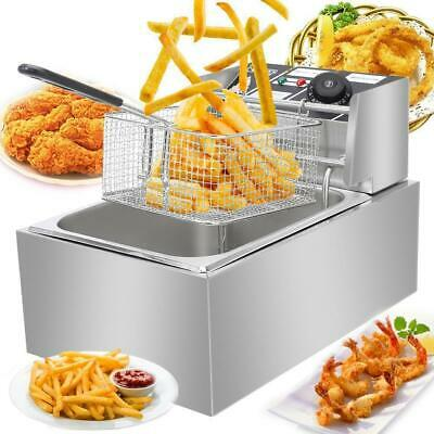 $54.99 • Buy 2500W 6L Commercial Electric Deep Fryer Restaurant Stainless Steel 6.3QT