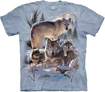 £24.99 • Buy The Mountain Adult Wolf Family Mountain Animal T Shirt