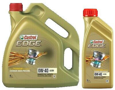 Castrol EDGE TITANIUM 0W-40 A3/B4 Synthetic Engine Oil 0W40 • 56.75£