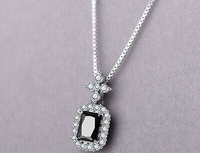 Crystal Heart Pendant 925 Sterling Silver Necklace Chain Womens Jewellery Gifts • 3.49£