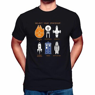 Space Ship Timeline T-Shirt - Inspired By Doctor Who Star Wars Star Trek Funny  • 7.99£