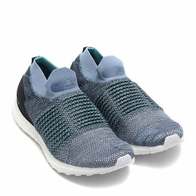 9fd51c1057241 Adidas X Parley UltraBoost Laceless Raw Grey Carbon  Blue Mens Shoes CM8271  12 •