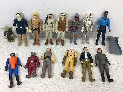 $ CDN114.99 • Buy Vintage Star Wars Figure Lot Of 14 Empire Strikes Back Solo Luke Yoda Boba