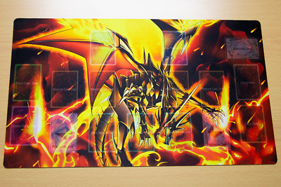AU34.20 • Buy F3251+ Free Mat Bag Yugioh TCG Playmat Red-Eyes Black Flare Dragon With Zones