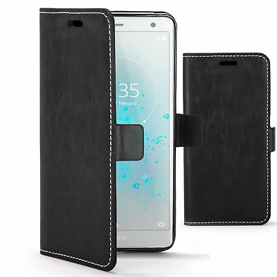 AU9.01 • Buy Sony Xperia XZ2 Case | Handmade PU Leather Premium Flip Cover Wallet & Stand