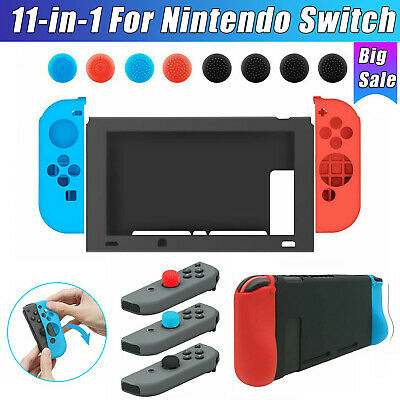 $9.97 • Buy For Nintendo Switch Controller Silicone Protective Skin Case Cover + Thumb Grips
