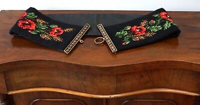 £56.25 • Buy Beautiful Antique Embroidery Needlework Bell Pull - Excellent Condition