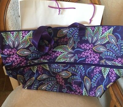 Vera Bradley Lighten Up Expandable Travel Bag Tote Batik Leaves NWT • 54.99  1ba97226bbc6f