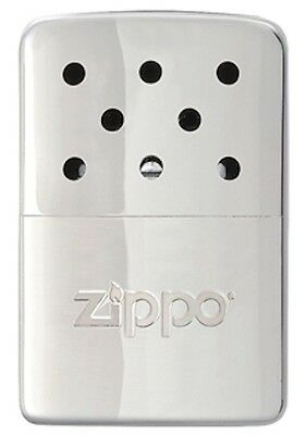 Zippo 6 Hour Hand Warmer With Filler Cup & Pouch, Silver, 40321, New In Box • 12.95$
