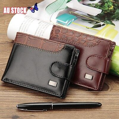 AU12.41 • Buy Fashion Mens Leather Wallet RFID SAFE Contactless Card Blocking ID Protection AU