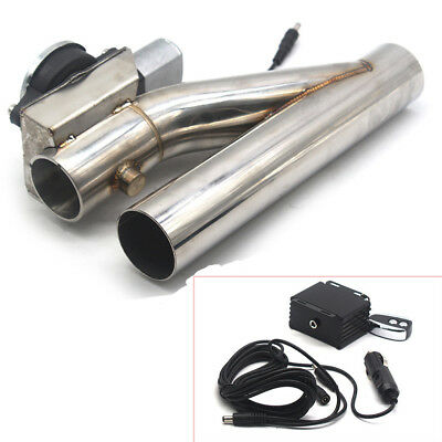 $ CDN174.74 • Buy Universal 2  Electric Exhaust Downpipe Cutout Bypass E-Cut Out Dual-Valve Remote