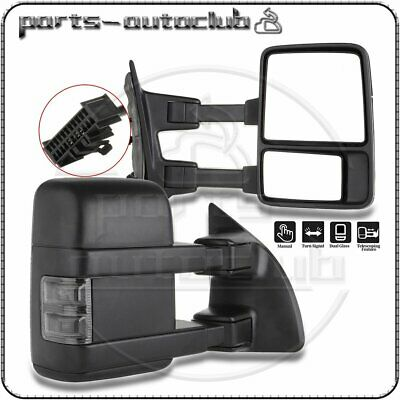 $141.71 • Buy For 1999-2016 Ford F250 F350 Super Duty Manual Side Black Towing Mirrors Pair
