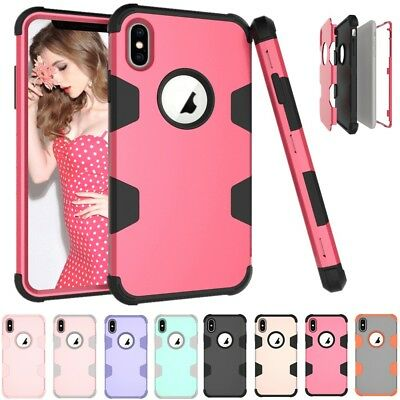 AU7.08 • Buy For IPhone Xs Max 6 7 8 Plus Shockproof Heavy Duty Armor Hybrid Hard Case Cover