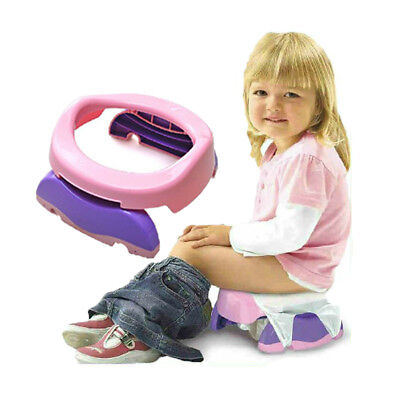 Kid Potty Training Travel Portable Foldable Toddler Toilet Safe Seat Plastic  • 8.19£