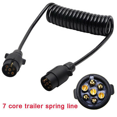 Trailer Light Board Extension Cable Lead 7 Pin Plug Socket Caravn Towing Wire 3M • 9.99£