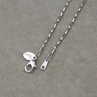 $ CDN7.62 • Buy 18½  Lia Sophia Signed Jewelry Silver Tone Basic Necklace Snake Chain Free Ship