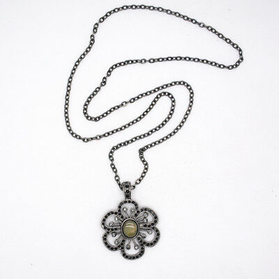 $ CDN10.44 • Buy Lia Sophia Jewelry Black Chain Elegant Flower Pendant Cut Crystals Necklace