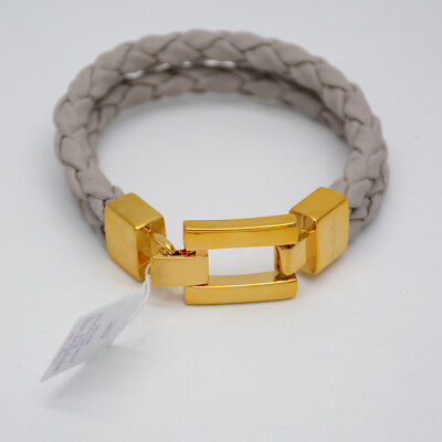 $ CDN12.64 • Buy NWT Lia Sophia Jewelry 18k Gold Filled Bracelet Double Leather Chain Snap Bangle
