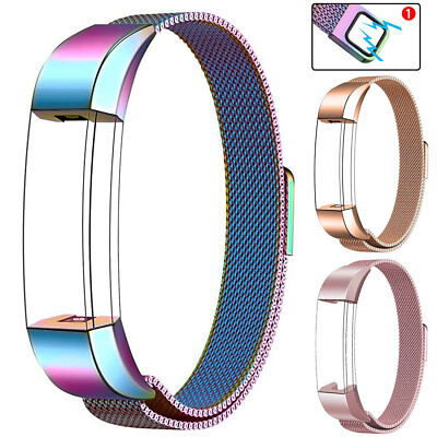 AU12.10 • Buy Magnetic Milanese Loop Strap Watch Band For Fitbit Charge 2/3 Alta HR/Versa Band