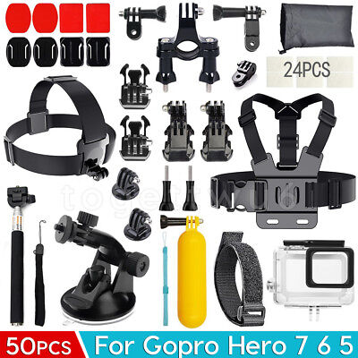 AU27.99 • Buy GoPro Accessories Pack Head Chest Diving Waterproof Housing Case For Hero 7 6 5
