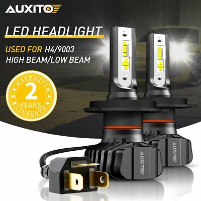 $35.98 • Buy AUXITO H4 9003 LED Headlight Kit Hi Low Beam Bulbs 18000LM FANLESS HID WHITE B7