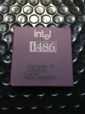AU32.48 • Buy NEW Intel 486 DX 33MHZ A80486DX-33 SX419 I486 CPU Processor Gold Vintage Rare