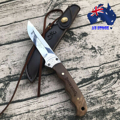AU28.99 • Buy 028# Browning Shadow Wood Fixed Blade Knife Outdoor Camping Survival Hunting AU