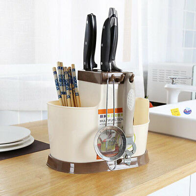 AU13.14 • Buy Plastic Cutlery Caddy Utensil Rack Kitchen Organizer Chopsticks Holder