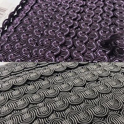 Braid - Woven Gimp 1cm Width  Lampshade Blinds Cushion Upholstery Craft 2 Colour • 2.99£
