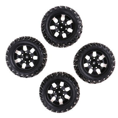 £24.85 • Buy 4Pcs Wheels Tire Tyres Set For 1/10 RC Car HPI Savage Flux XS Monster Truck
