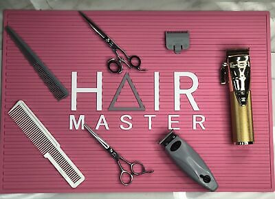 $25 • Buy Hair Master Barber/Stylist Station Mat- Pink $25.00