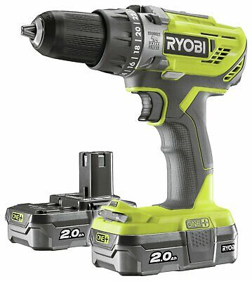 Ryobi ONE+ 2Ah Cordless Combi Drill With 2 Batteries - 18V. • 115£