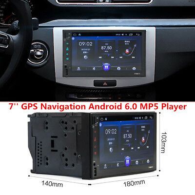 $142.49 • Buy 7  Touch Screen Car Android 6.0 System GPS Navigation Bluetooth MP5 Player 1080P