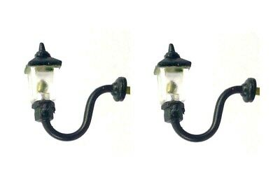 00 Gauge 1900's Wall Mounted Swan Neck Gas Light With Ladder Support X 2 • 13.50£