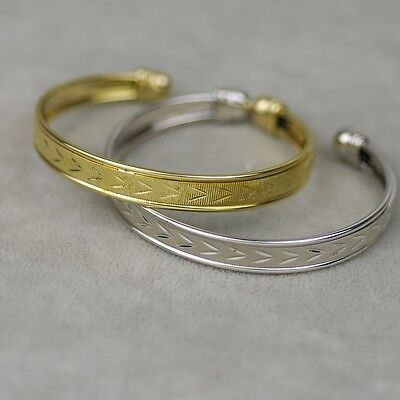 $ CDN10.86 • Buy Lia Sophia Gold Tone Cuff Bangle Silver Plated Pattern Bracelet Simple Texture