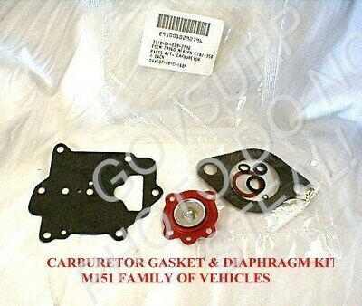 $24.95 • Buy Carburetor Gasket Kit For M151 M151a1 M151a2 Mutt W/zenith Carb 2910-01-029-2796