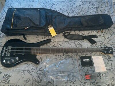 $ CDN850 • Buy Warwick Rockbass Corvette Black High Gloss 5 String With Gigbag