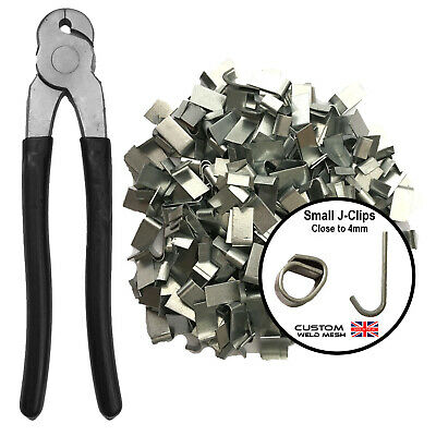 £44.99 • Buy Wire Mesh Cage Making J-clips Clips Aviaries Fencing Chicken Wire Clip Pliers UK