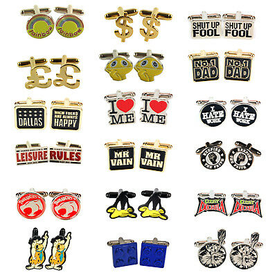 £1.95 • Buy Retro Novelty CUFFLINKS Wedding Cool Gift For Him Man Funky Funny Vintage Comedy
