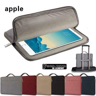 For Apple Ipad 123456 Air 1/2 Pro 9.7 /12.9  Carry Laptop Sleeve Pouch Case Bag • 10.99£