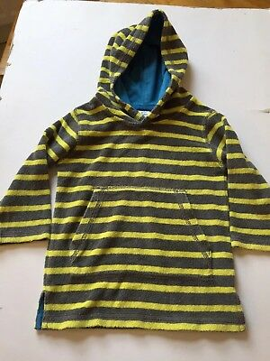 Boys Girls Boden Towelling Hoodie Jumper Grey Lime Green SWIMMING Beach 1.5-2yrs • 8.99£