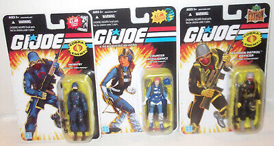$ CDN68.53 • Buy LOT 3 FIGURES 25th Anniv 2007 GI JOE Scarlett Python Officer Cobra Trooper MOC
