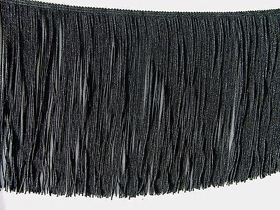 £2.88 • Buy Decorative 7  Black Chainette Fringe Trim Sold By The Yard ~ Lampshades Costumes