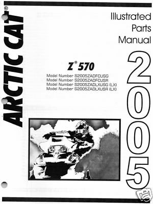 $23.99 • Buy 2005 Arctic Cat Z 570 Snowmobile Parts Manual New