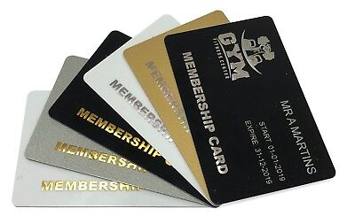 £19.99 • Buy Gold Or Silver Foil Blocked Plastic Cards, Business Cards, Membership Cards