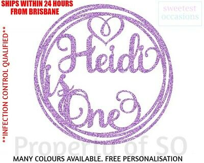 AU11.99 • Buy Personalised Custom 1ST 2ND 3RD -Any Age CIRCLE Birthday Cake Topper Max 4 Words